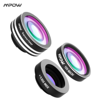 Buy Origianl MPOW 3 1 Clip-On Phone Camera Lens Kit 180 Degree Fisheye Lens + 0.65X Wide Angle + 10X Macro Lens Cellphones for $9.99 in AliExpress store