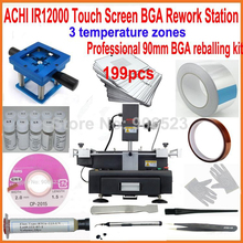 2016 New ACHI IR12000 touch screen bga rework station motherboard repair machine +199pcs 90mm laptop bga stencils +20 gifts(China)