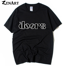 the doors band logo man boys o-neck plus size short-sleeve T-shirt(China)