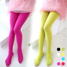 Buy Girls Velvet Pantyhose Candy Solid Color Ballet Dance Tights Stockings