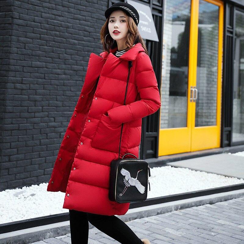 Fashion lady winter cotton padded coat woman down jacket pockets turn down collar straight long parka female warm thicken snowÎäåæäà è àêñåññóàðû<br><br>