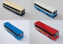 Exquisite 1/150 Model Train N scale model alloy wheels buses movable architectural model material sand table model materials