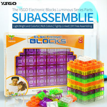 Electronic blocks luminous series parts 24 pcs,subassemblies light bright colorful bricks 10 styles,free assembling toys