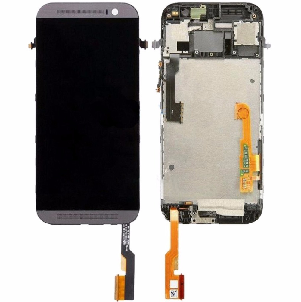 For HTC One M8 831C LCD Display Touch Screen Digitizer + Frame Assembly Gray free tool<br><br>Aliexpress