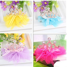 5 Pcs Cute Novelty High Quality Girls Angel Resin Diamond Crown Princess Children Accessories Hair Accessories Hair Clip