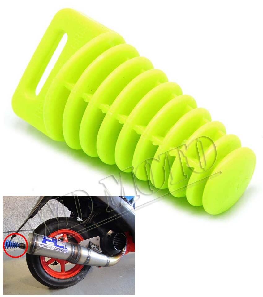 Grass green Color KTM Small Exhaust Pipe Muffler Silencer wash 2 Stroke Plug for suzuki<br><br>Aliexpress