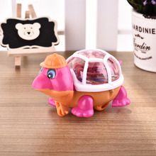 New Cute Funny Pull String Luminous Turtle Children's Toys LED Toy Gift to Children Wholesale(China)