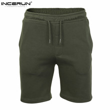 INCERUN 2017 Solid Design Plain Mens Shorts Summer Mens Beach Shorts Casual Leisure Male Joggers Shorts Homme Brand Clothing 2XL(China)