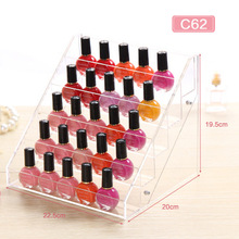 Fashion Women Storage Box For Nail Polish Store Acrylic Creative Women Make Up Transparent Display Shelves Makeup Container