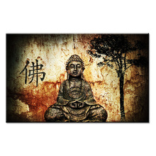 Ancient art buddha Wall painting print on canvas for home decor ideas paints wall pictures No framed(China)