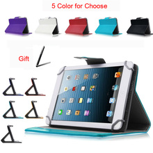 "For ASUS Eee Pad Transformer TF101 10.1""Inch Universal Tablet PU Leather cover case Free Stylus Pen"