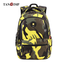 TANGIMP Kid Camouflage Backpack Leisure School Bags Travel Bookbags for Cool Boy / Girl Backpacks Camo Knapsack Large Capacity(China)