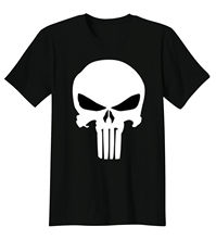 Punisher Skull Marvel Comics T-Shirt Cool Tee 2017 Fashion Short Sleeve New Tops Print Letters Men T Shirt Shirt Tricolor(China)