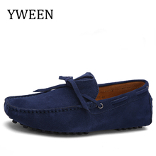 Buy YWEEN 2018 Spring Summer Men's Driving Shoes Men Loafers Split Leather Shoes Breathable Man Flat Shoes Size 38-47 for $24.92 in AliExpress store