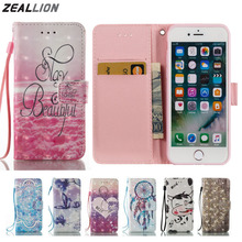 ZEALLION For iPhone 5 5S SE 6 6S Plus 7 7 Plus Case New Cartoon Wallet Design Magnetic Holster Flip PU Leather Cover