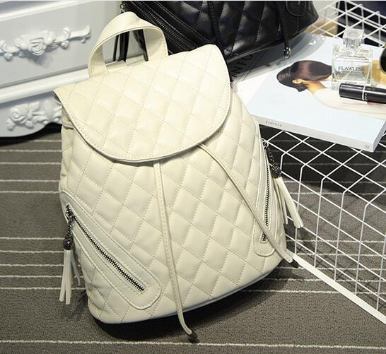 Luxury Brand Designer Genuine Leather Womens Backpack Diamond Cowhide Leather Women School Shoulder Bag Travel Backpacks N047<br>