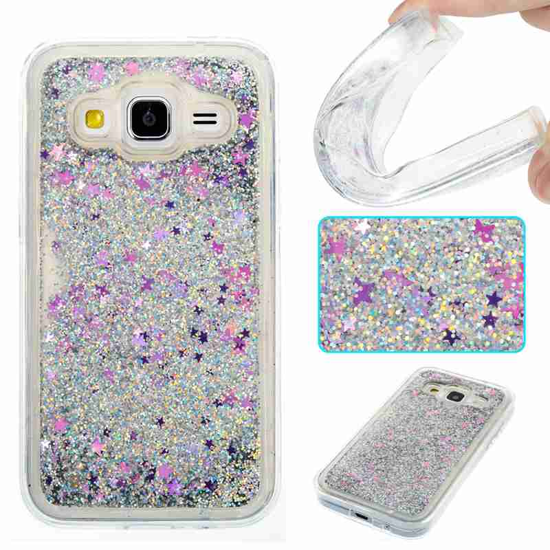 Samsung Galaxy G360 G360F Dynamic Liquid Glitter Paillette Cases Samsung G361 G361F Bling Back Cover TPU Silicone Case