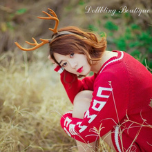 Party Hat Photography Props studio Lovely Deer Horn Head Band Fresh Cute Christams Theme forest girl Headwear