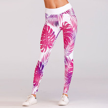 Buy New Red Floral Printed Casual Push Fitness Sporting Leggings High Waist Elastic Slim Pants Workout Leggings Women for $11.98 in AliExpress store