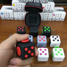 Hot Fidget Cube Toys Squeeze Fun Stress Reliever Fidget Toys Puzzle Magic Cube Toys Stress Cube Come With Box Stress Wheel(China)