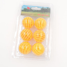 6 Pcs Plastic Golf Balls Gird Maximum Fly Distance is 20m(China)
