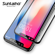 Buy Suntaiho 3D 9H Tempered Glass iPhone X 3D HD Full Cover Screen Protector iPhone X Protective Glass Film for $1.85 in AliExpress store