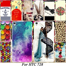 DIY Silicone Hard Plastic Mobile Phone Case For HTC Desire 728 728G Dual Sim D728T D728W Covers 18 Fashion Picture Shell Housing