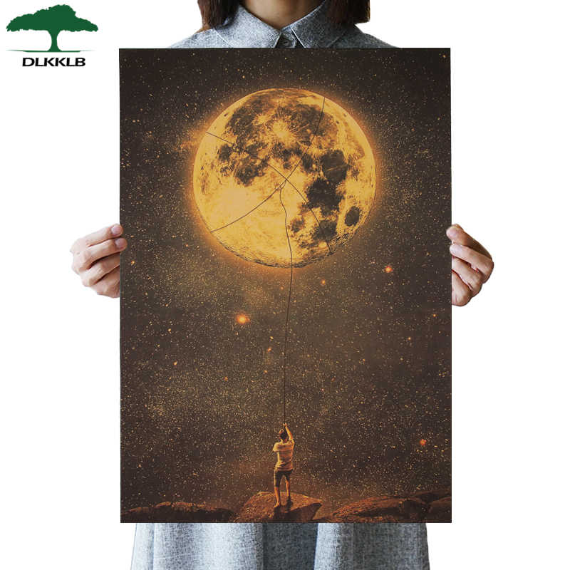 DLKKLB Vintage Art Poster Grab Dream Art Decor Retro Kraft Paper Struggle Decoration Painting 50.5x35cm Bar Cafe Wall Sticker
