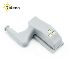 TSLEEN 1PC(With 1Pc 23A Battery) Universal LED Light Cabinet Cupboard Hinge Wardrobe System Modern Home Kitchen Lamp Cool White(China)