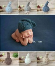 Knit Newborn Baby Knot bonnet Baby Girl Hat Crochet Newborn Boy Hat Photography Props Infant Bonnet  Pattern Newborn Shower Gift