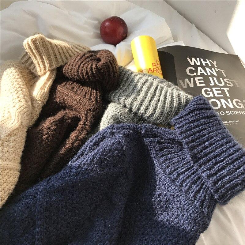 ab4dc891fbf Korean xxl Winter Sweater Women Loose Turtleneck Twist Coarse Knitted Thick  Warm Sweater Dress Pullover Coat Outwear