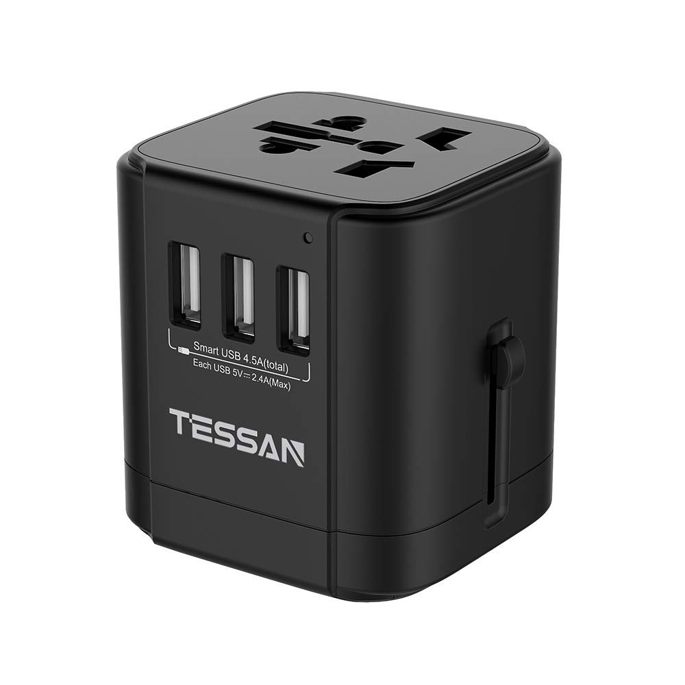 geekoplanet.com - All-In-One International Travel Plug Adapter with USB Ports US/EU/AU/UK