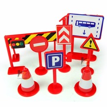 Traffic Sign Toy 9 pcs/set Packaged Children Early Education traffic safety signs toy(China)