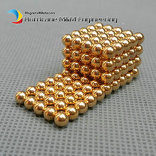 5 x 216pcs/set Diameter 4mm Golden Magic Bucky balls Neodymium Toy Cubes Magic Puzzles Toy Sphere Magnets Magnetic Bucky Balls(China)