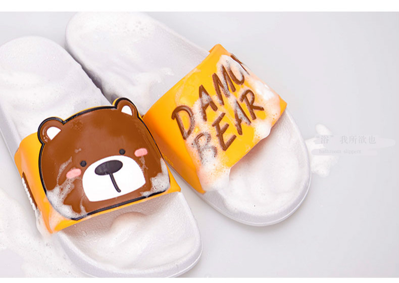 Cartoon Women Summer Slippers Cute Damon Bear Soft Sole Slides Home Slippers Indoor & Outdoor Sandals Women Shoes Flip Flops 8