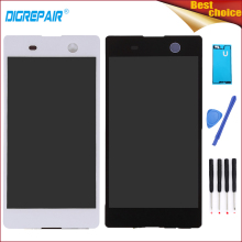 "Buy 5.0"" Black/White Sony Xperia M5 Dual E5603 E5606 E5653 LCD Display Digitizer Touch Screen Full Assembly Parts+Tools+Adhesive for $22.49 in AliExpress store"