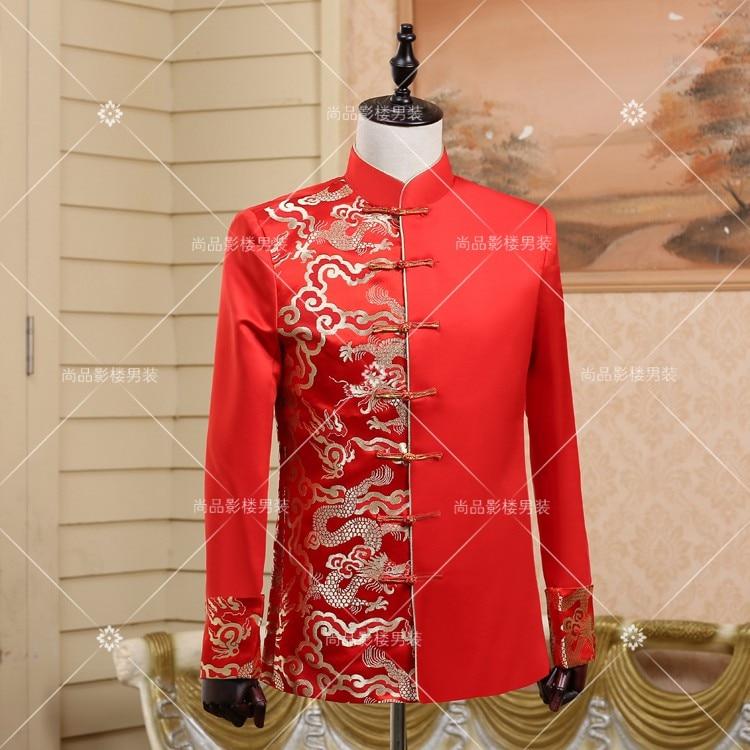 Großhandel chinese groom red wedding suit Gallery - Billig kaufen ...