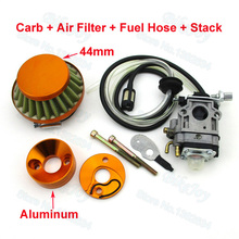 Carb Carburetor + 44mm Air Filter & Gold Stack & Fuel Hose Carby For 33cc 43cc 49cc Gas Scooter Skateboard