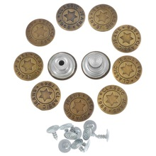 100Sets 17mm Star Jeans Metal Button Rapid Rivet Buttons Fasteners Combined Button Sewing Clothes Accessories(China)