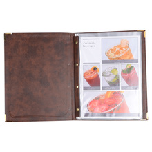 30pcs/lot Restaurant Menu Covers Coffee Menu Folders PU Leather Wine List Menu Holders Restaurant Display Accept Customized