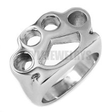 Silver Knuckles Boxing Glove Ring Stainless Steel Jewelry Fashion Motor Biker Men Women Ring Wholesale SWR0416A