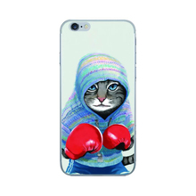 2017 Fashion rainbow sexy lips boxing cat lion skateboard tiger skull chiefs glasses dog soft tpu cell phones case For Iphone(China)