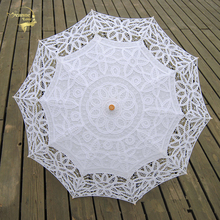 Buy New Fashion Lace Sun Umbrella Parasol Embroidery Bride Umbrella White Ivory Wedding Umbrella Ombrelle Dentelle Parapluie Mariage for $19.98 in AliExpress store