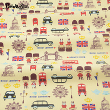 Cartoon Designs Yellow Color Cotton Fabric Twill Bedding Baby Clothing Home Textile Material Quilting Fabrics for Patchwork(China)