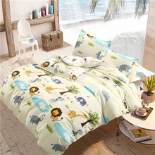 DeMissir,Children Animals Yellow Bedding Sets Queen Twin Full Size Beding Set 3/4pcs Duvet Cover Sheet housse de couette cama