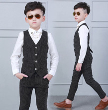 Kid Baby Boy Blazers Jacket Suit Formal Clothing Outerwear Party Wedding Casual Costume Flower Boy Child