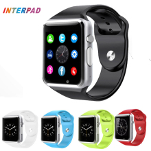 Interpad High Quality Android Smart Watch A1 Bluetooth Clock With Pedometer SMS Sync Support Camera TF SIM Card Smartwatch