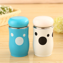 Mushroom Design 260ml Thermos Mug Insulated Vacuum Tumbler Travel Stainless Steel Thermoses Belly Cup for Office Coffee Water