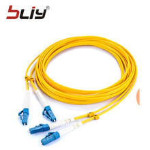 10PCS/bag 3M LC UPC Simplex single-mode free shipping fiber optic patch cord LC 3M Simplex 3.0mm FTTH fiber optic jumper(China)
