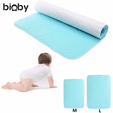 Baby Infant Bed Urine Pad Super Absorbent Washable Reusable Incontinent Underpad M/L Waterproof Cloth Diaper Changing Mat